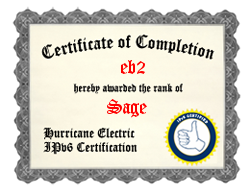 IPv6 Certification Badge for eb2